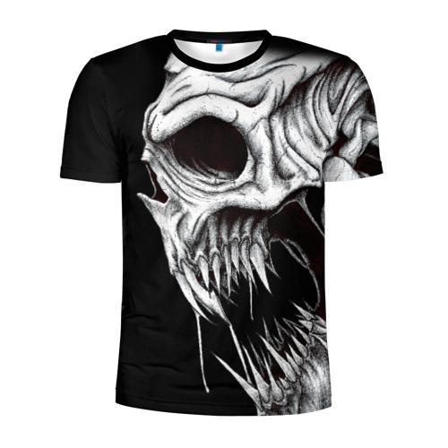 Мужская футболка 3D спортивная Череп | Skull (Z)
