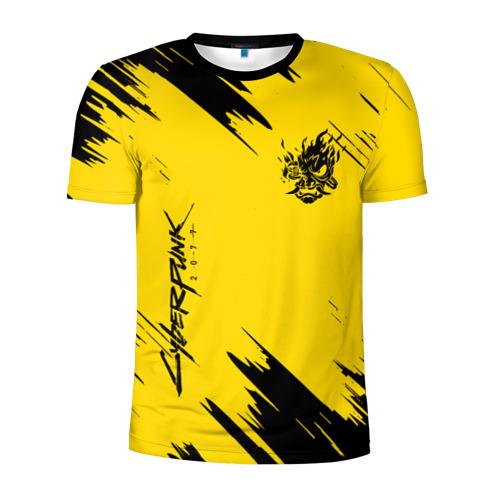 Мужская футболка 3D спортивная CYBERPUNK 2077