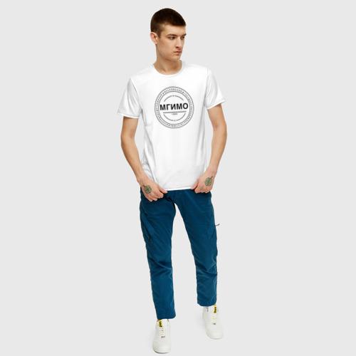 Мужская футболка с принтом МГИМО 1944, вид сбоку #3