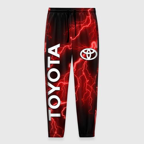 Мужские брюки 3D с принтом TOYOTA, вид спереди #2