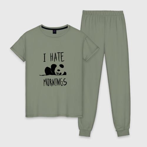 Женская пижама хлопок Ненавижу утро
