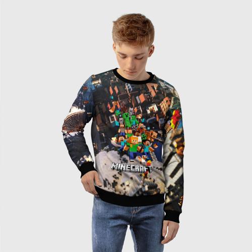 Детский 3D свитшот с принтом MINECRAFT, фото на моделе #1