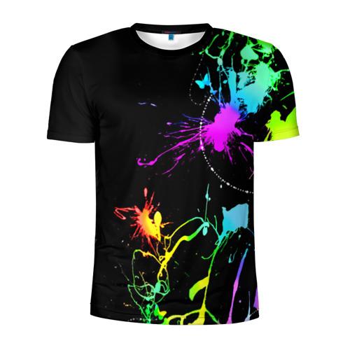 Мужская футболка 3D спортивная НЕОНОВЫЕ КРАСКИ