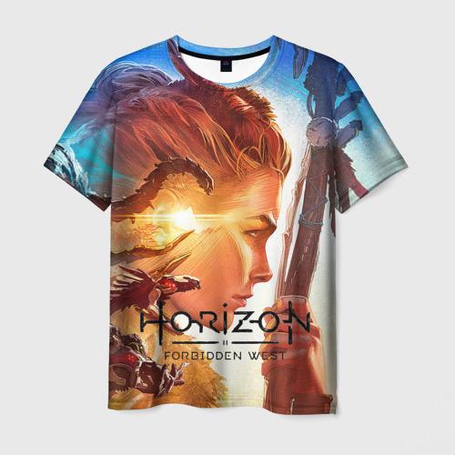 Мужская 3D футболка с принтом Horizon Forbidden West, вид спереди #2