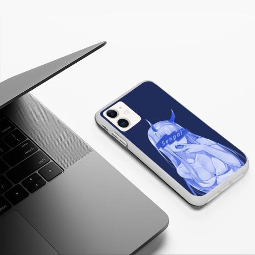 Чехол для iPhone 11 матовый силикон с принтом Zero Two Senpai, фото #5