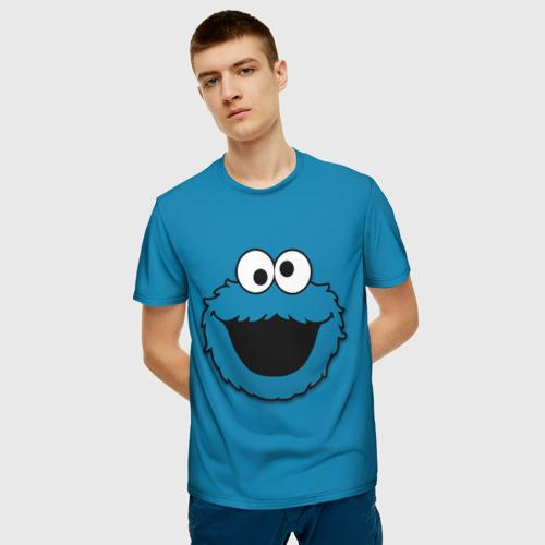 Мужская 3D футболка с принтом КОРЖИК, фото на моделе #1