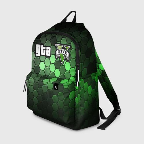 Рюкзак 3D с принтом GTA 5 / ГТА 5, вид спереди #2