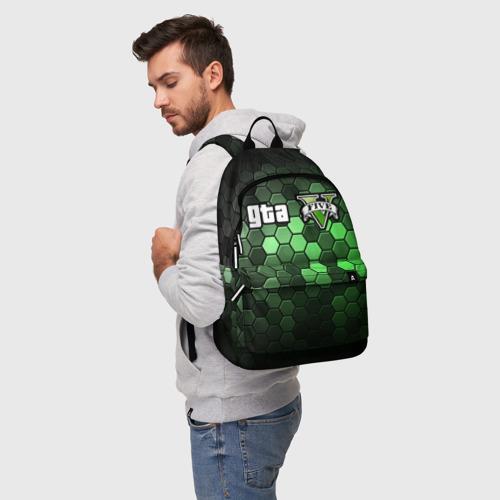 Рюкзак 3D с принтом GTA 5 / ГТА 5, фото на моделе #1