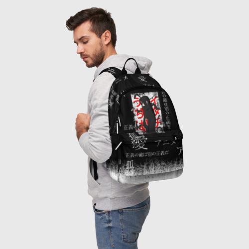 Рюкзак 3D с принтом Итачи, фото на моделе #1