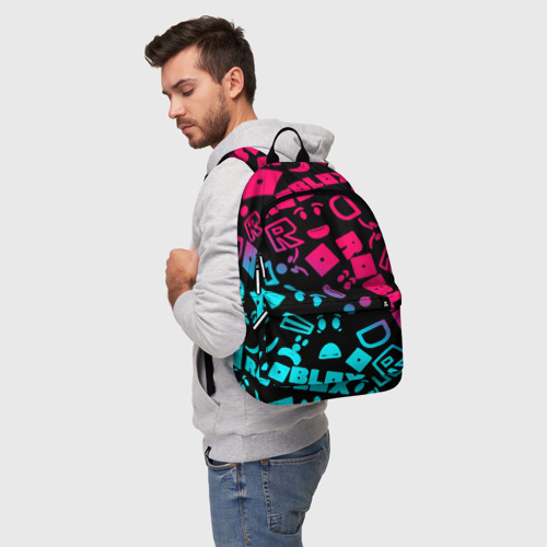 Рюкзак 3D с принтом Roblox, фото на моделе #1