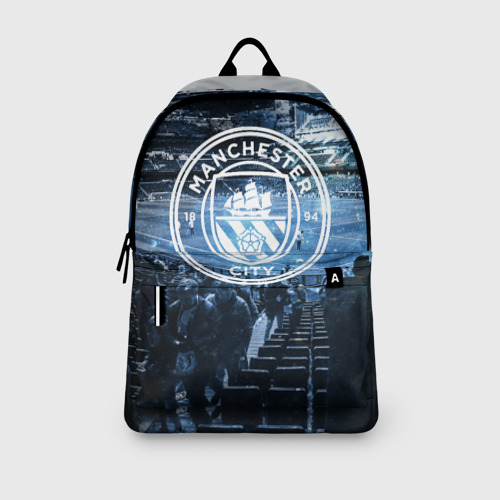 Рюкзак 3D с принтом MANCHESTER CITY, вид сбоку #3