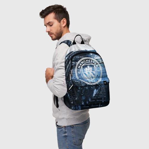 Рюкзак 3D с принтом MANCHESTER CITY, фото на моделе #1