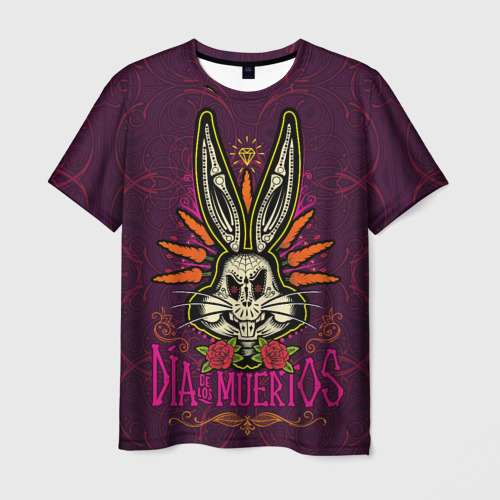 Мужская 3D футболка Dia De Los Muertos