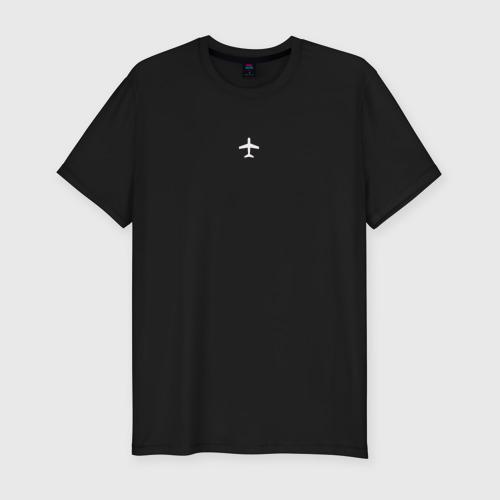 Мужская футболка премиум с принтом Самолет, вид спереди #2