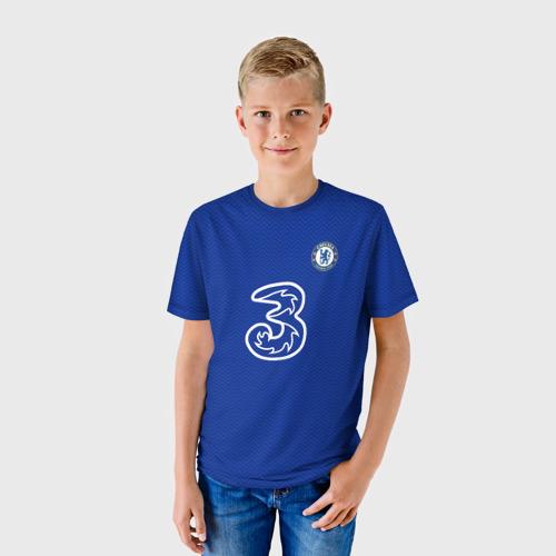 Детская 3D футболка с принтом Челси форма Хаверц 20-21, фото на моделе #1