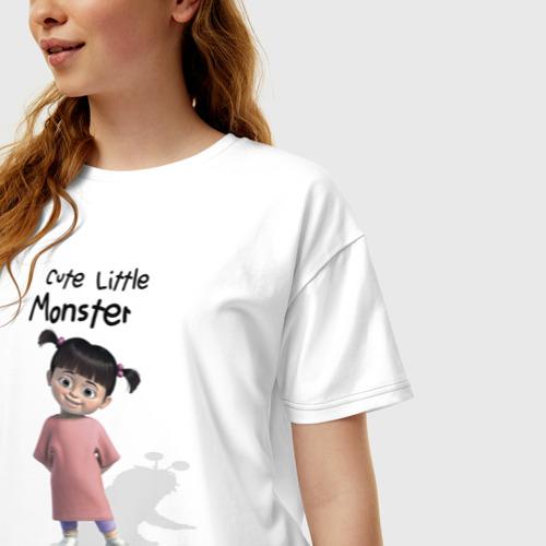 Женская футболка oversize с принтом Boo, фото на моделе #1