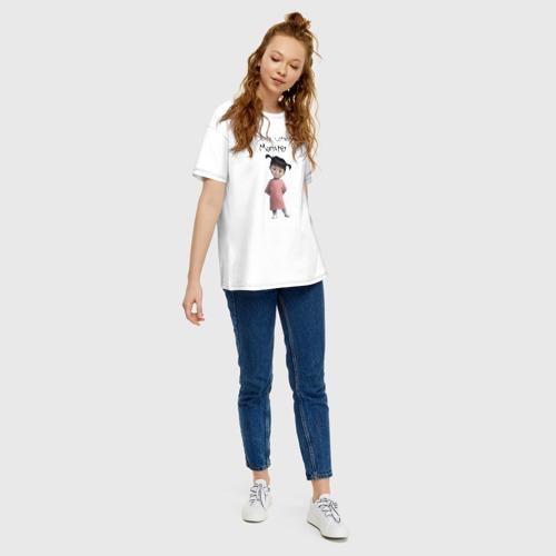 Женская футболка oversize с принтом Boo, вид сбоку #3