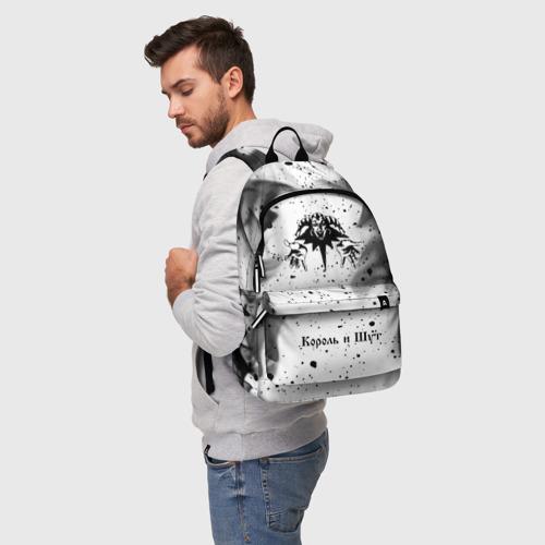 Рюкзак 3D с принтом КОРОЛЬ И ШУТ, фото на моделе #1