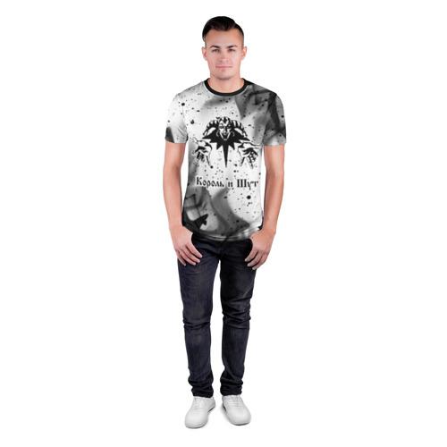 Мужская футболка 3D спортивная с принтом КОРОЛЬ И ШУТ, вид сбоку #3