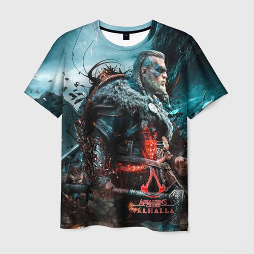 Мужская 3D футболка с принтом Valhalla, вид спереди #2