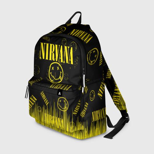 Рюкзак 3D с принтом Nirvana, вид спереди #2