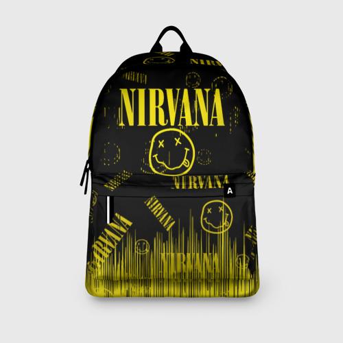 Рюкзак 3D с принтом Nirvana, вид сбоку #3