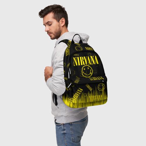 Рюкзак 3D с принтом Nirvana, фото на моделе #1