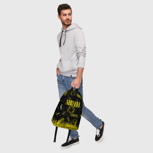 Рюкзак 3D с принтом Nirvana, фото #5