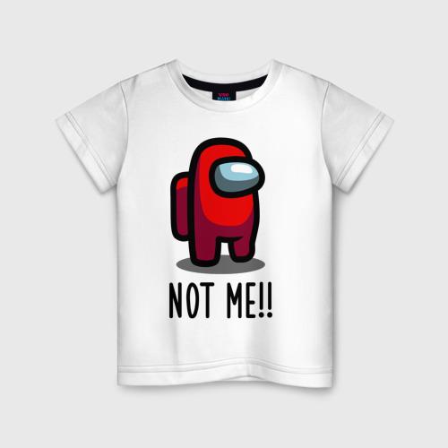 Детская футболка Among Us, Not Me!