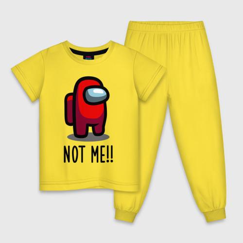 Детская пижама Among Us, Not Me!