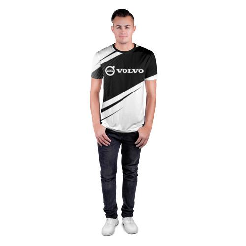 Мужская футболка 3D спортивная с принтом VOLVO / Вольво, вид сбоку #3