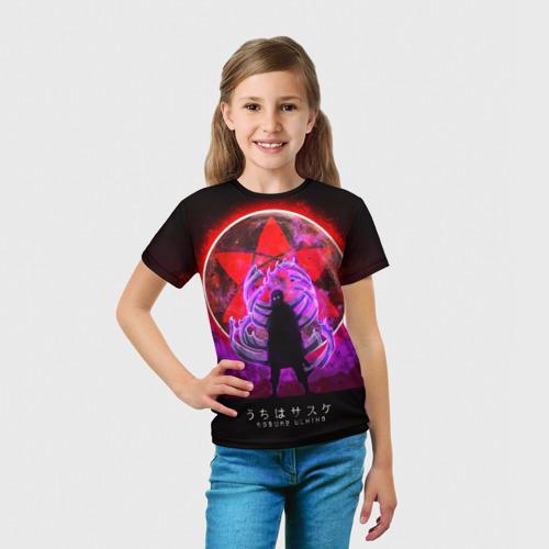 Детская 3D футболка с принтом САСКЕ, вид сбоку #3
