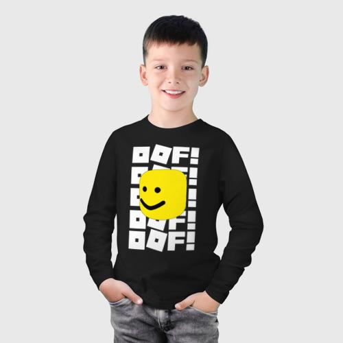 Детский хлопковый лонгслив с принтом ROBLOX, фото на моделе #1