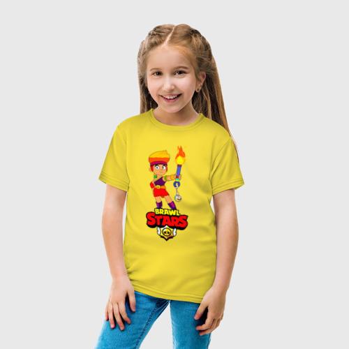 Детская футболка с принтом Brawl Stars/Amber, вид сбоку #3