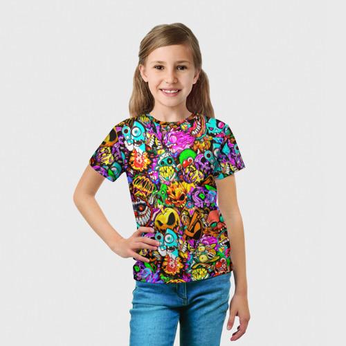 Детская 3D футболка с принтом STANDOFF 2 STICKERS, вид сбоку #3