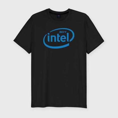 Мужская футболка премиум Intel Boy