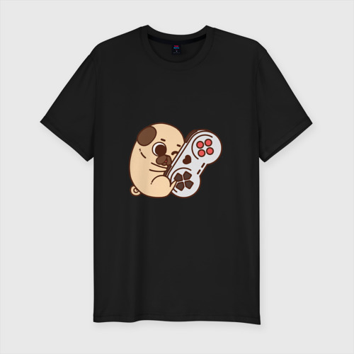 Мужская футболка премиум Мопс-игрун