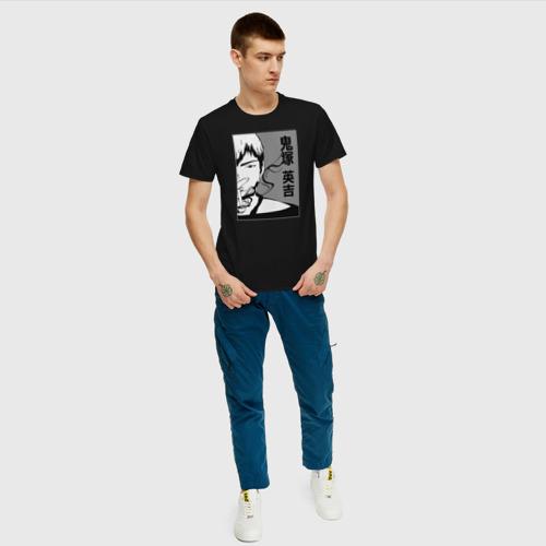 Мужская футболка с принтом Эйкити Онидзука, вид сбоку #3