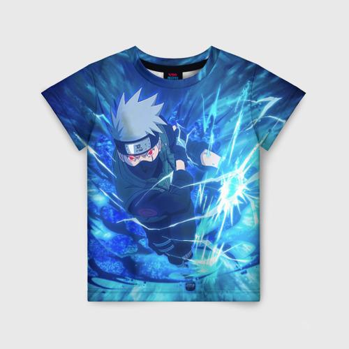 Детская 3D футболка Какаши Наруто