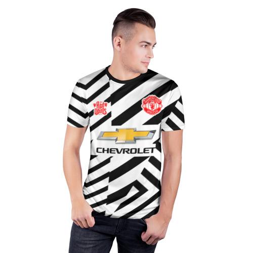 Мужская футболка 3D спортивная с принтом MANCHESTER UNITED 20/21, фото на моделе #1