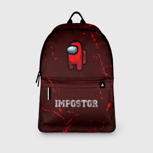 Рюкзак 3D с принтом AMONG US - IMPOSTOR, вид сбоку #3