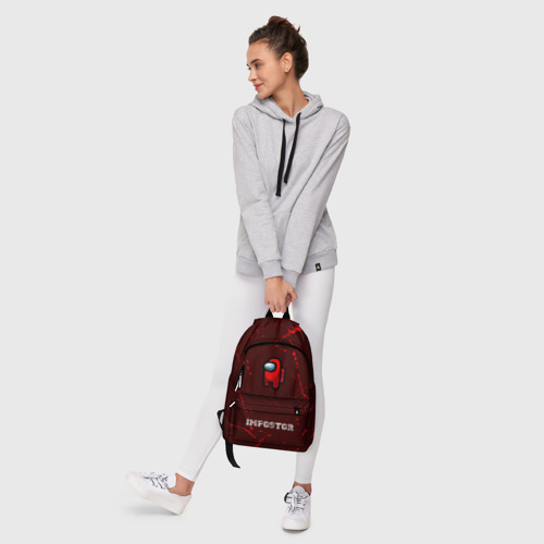 Рюкзак 3D с принтом AMONG US - IMPOSTOR, фото #6