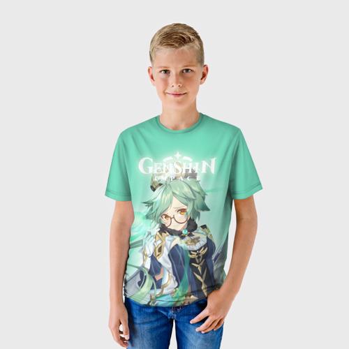 Детская 3D футболка с принтом Sucrose, фото на моделе #1