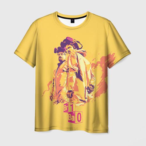 Мужская 3D футболка с принтом Во все тяжкие, вид спереди #2