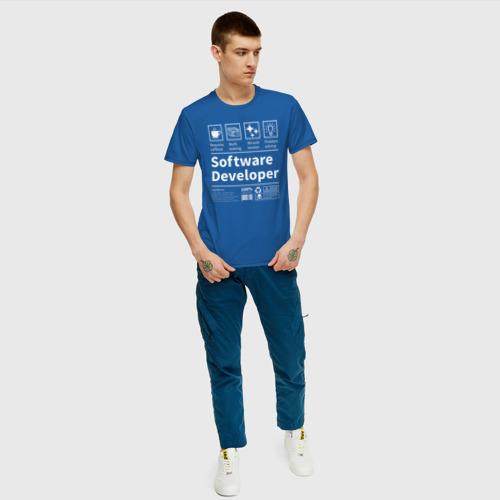 Мужская футболка с принтом Software Developer, вид сбоку #3