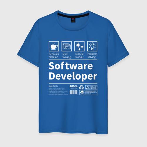 Мужская футболка с принтом Software Developer, вид спереди #2
