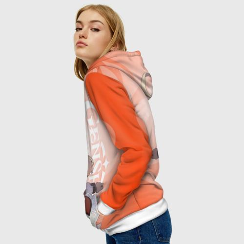 Женская 3D толстовка с принтом GENSHIN IMPACT, КЛИ, вид сбоку #3