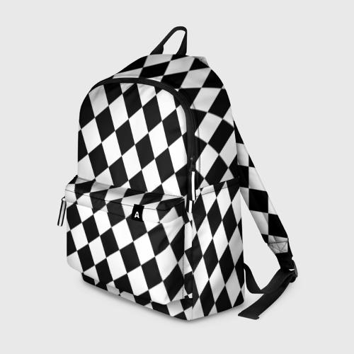 Рюкзак 3D с принтом Клетки, вид спереди #2