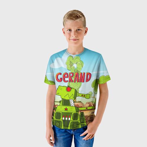 Детская 3D футболка с принтом GERAND, фото на моделе #1