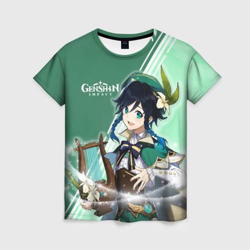 Женская 3D футболка Genshin Impact